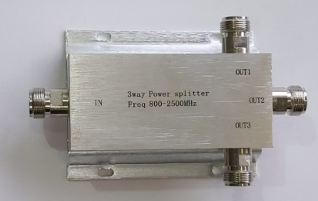 Image result for SPLITTER 1 INTO 3 3 WAY POWER SPLITTER (Freq 800-2500Mhz) 1in 3 out